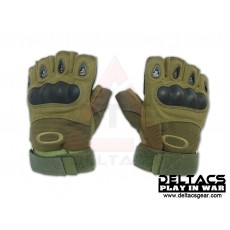 Deltacs Carbon Knuckle Half Finger Combat Gloves - OD Green (M-XL)